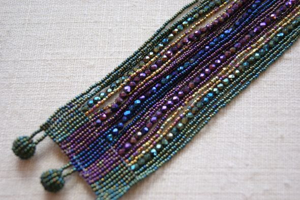 Huichol Beadwork- inspiration only simple design, beautiful bracelet