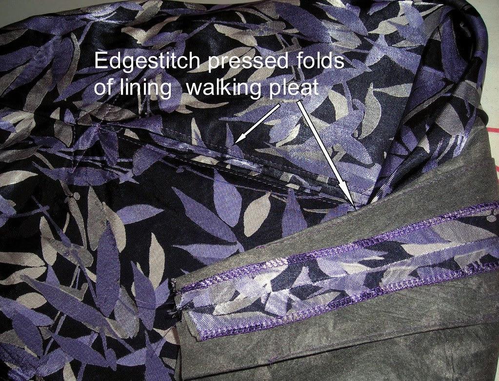 Edgestitch Pleat in Lining