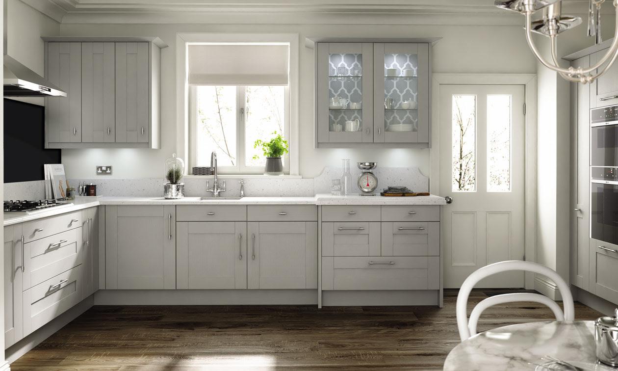 Broadoak Partridge Grey  Bespoke Fitted Kitchens Wigan  Kitchen Emporium