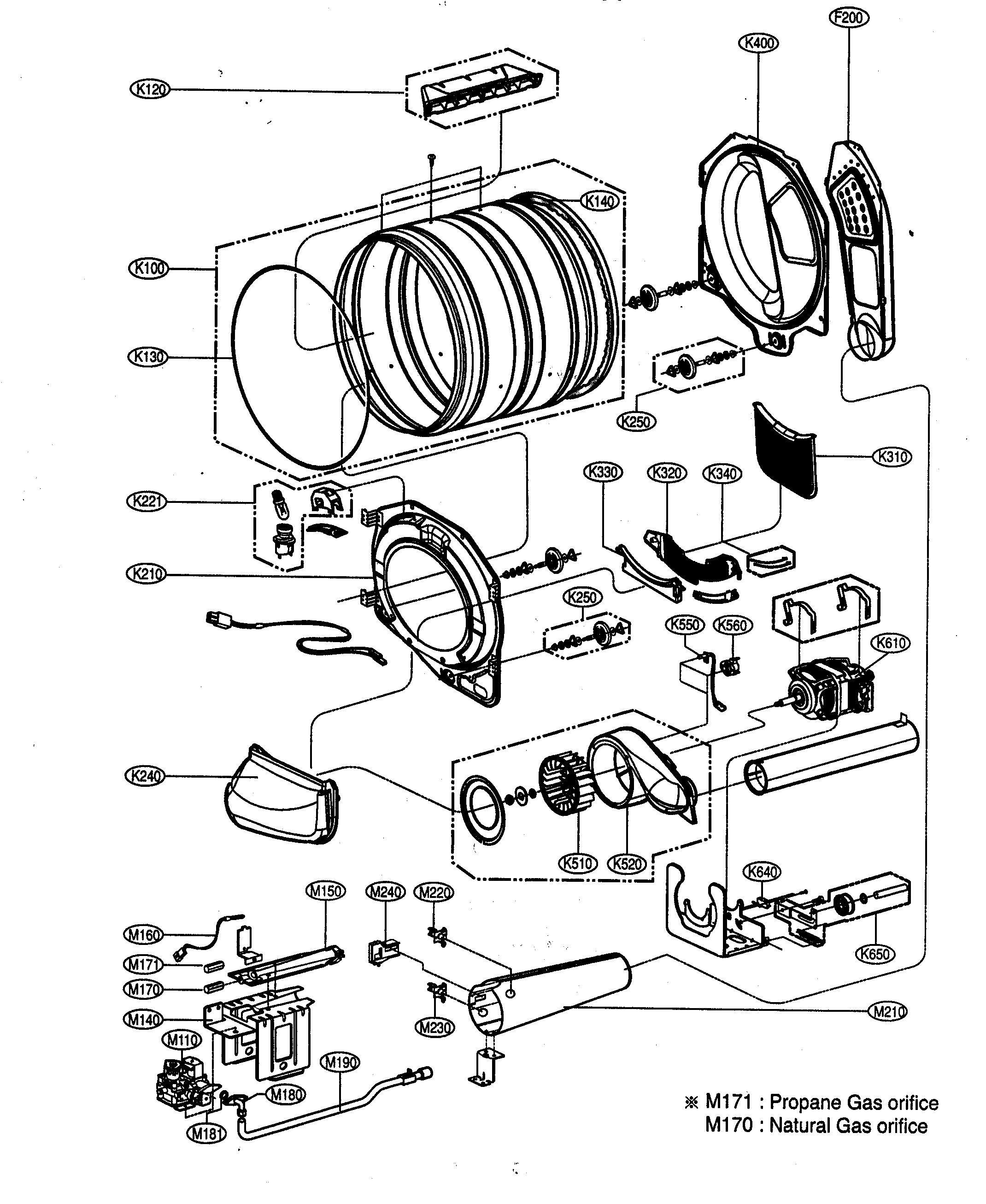 32 gas dryer diagram