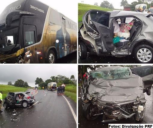 Cantor não estava no momento do acidente; motorista do ônibus também ficou ferido