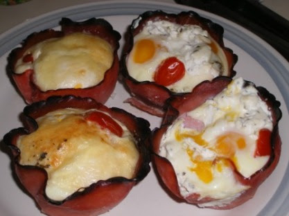 Gale Gand Ham and Egg Cups: 4 types