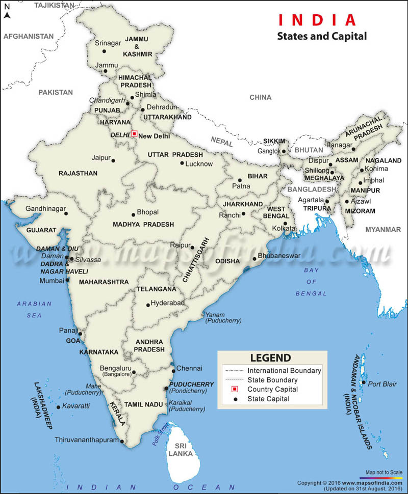 Knowledge On Geographical Settings Of India Leads To A