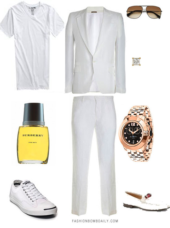 Mens Style Inspiration What To Wear To An All White Party