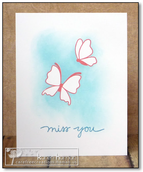 Miss You - by karen @ carefree creations