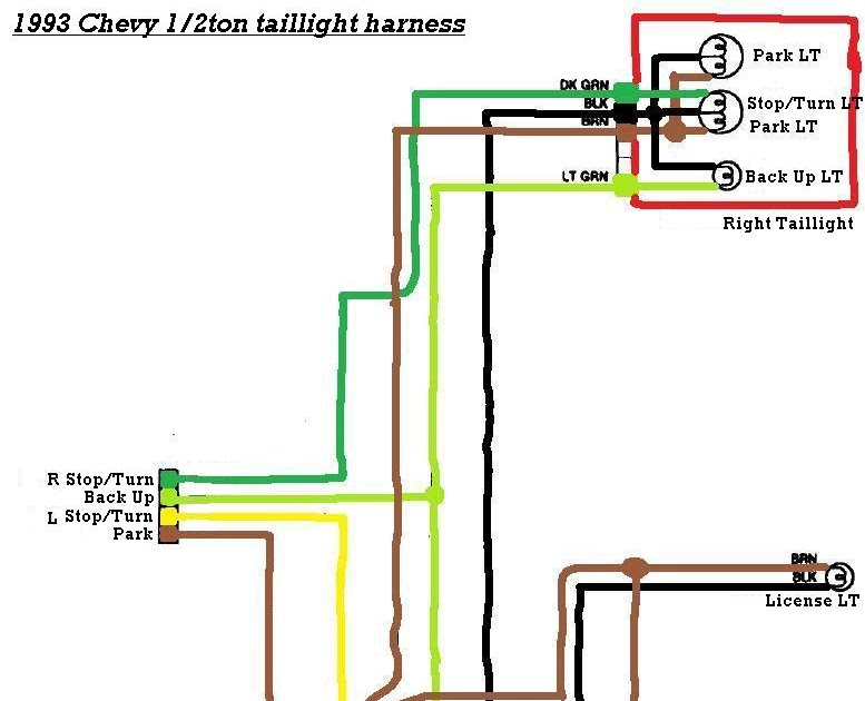 45 Lovely 1994 Chevy 1500 Tail Light Wiring Diagram