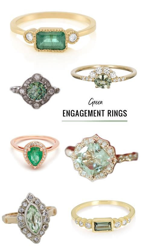 Ditch the Diamond ? Alternative Engagement Rings Featuring