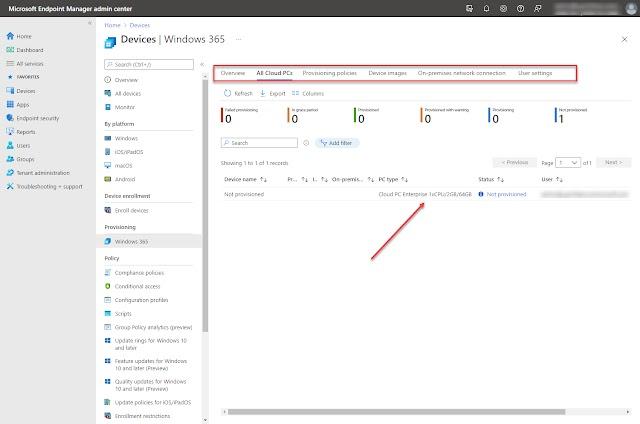 Configure Windows 365 Enterprise Cloud PC step-by-step