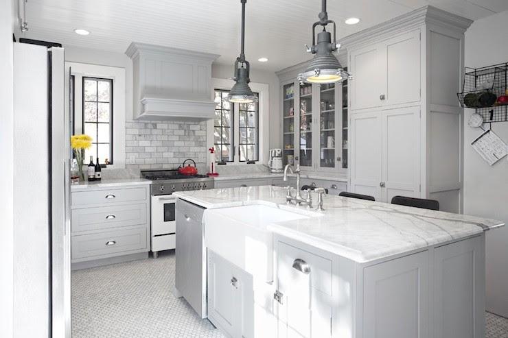 Gray Kitchen Ideas - Transitional - kitchen - New England ...