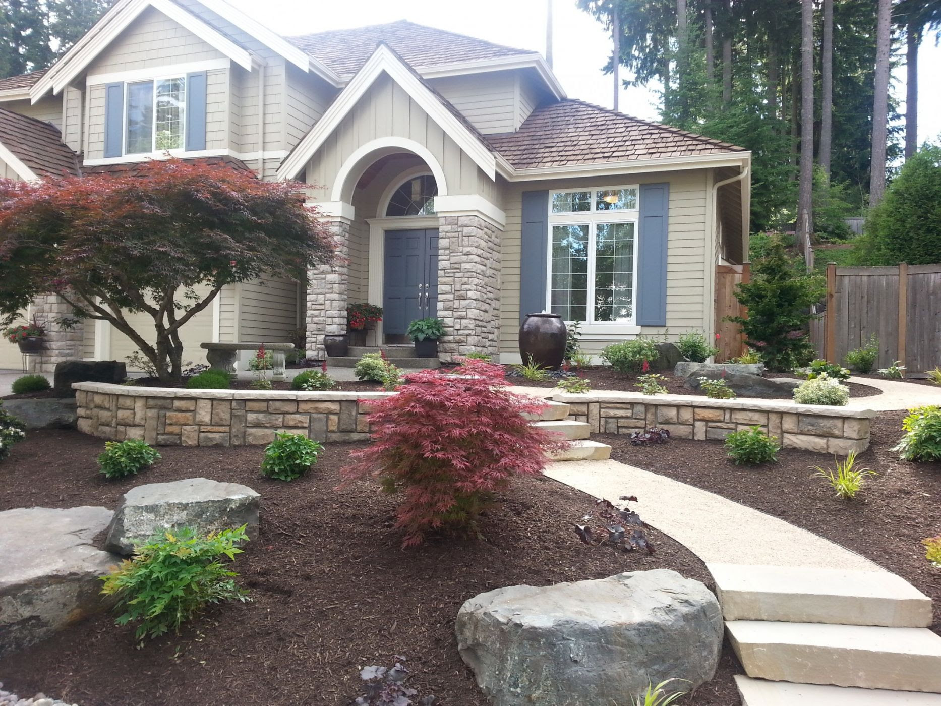 Face Landscape Small Yard Landscaping Ideas Under Pine Trees