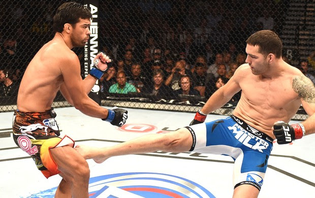 Chris Weidman e Lyoto Machida UFC 175 (Foto: Getty Images)