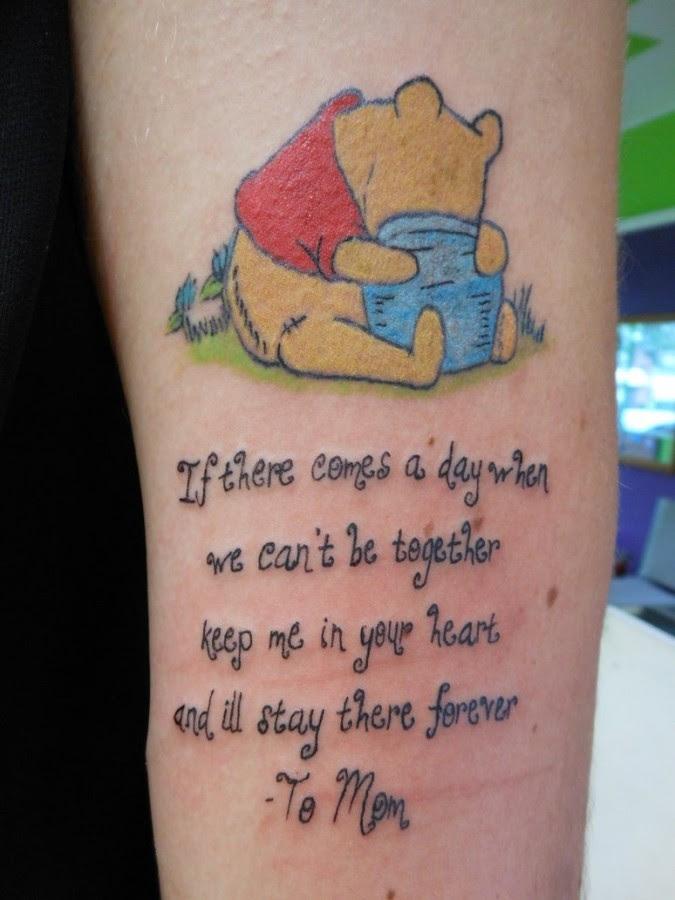 Winnie The Pooh And Quote Tattoo Tattoomagz