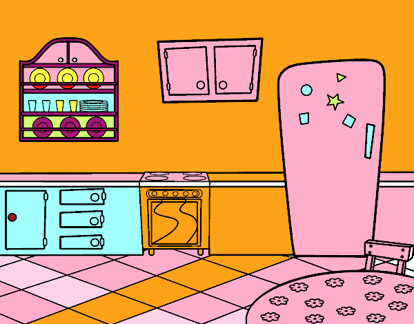 Dibujo De Cocina Office Pintado Por Yurachan En Dibujosnet El Día