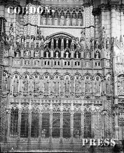 Lateral del Altar Mayor de la Catedral de Toledo hacia 1875-80. © Léon et Lévy / Cordon Press - Roger-Viollet