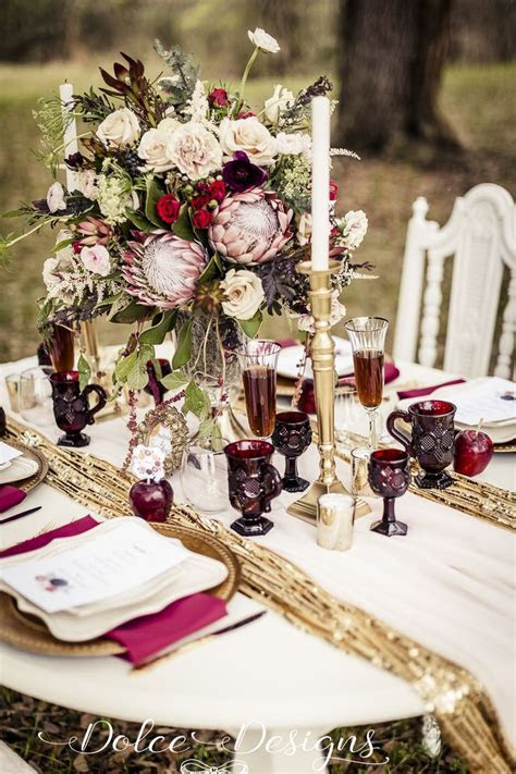 Marsala tablescape   Marsala wedding styling   marsala