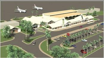 Rendering of Bangui M'poko International Airport, Central African Republic
