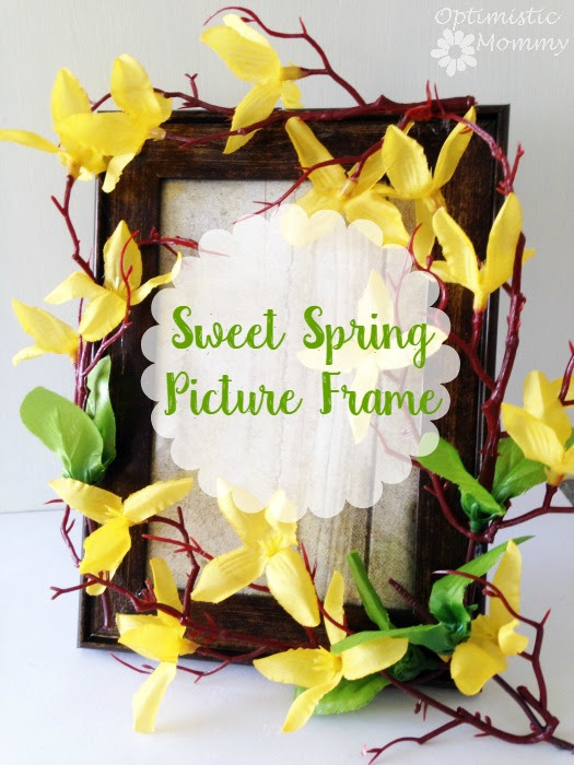 Sweet Spring Picture Frame Craft Optimistic Mommy