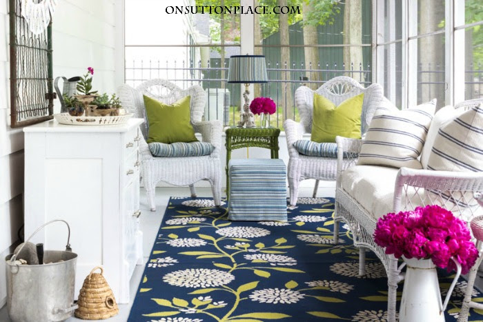 DIY Summer Porch Decor Ideas - On Sutton Place - HMLP 92 - Feature