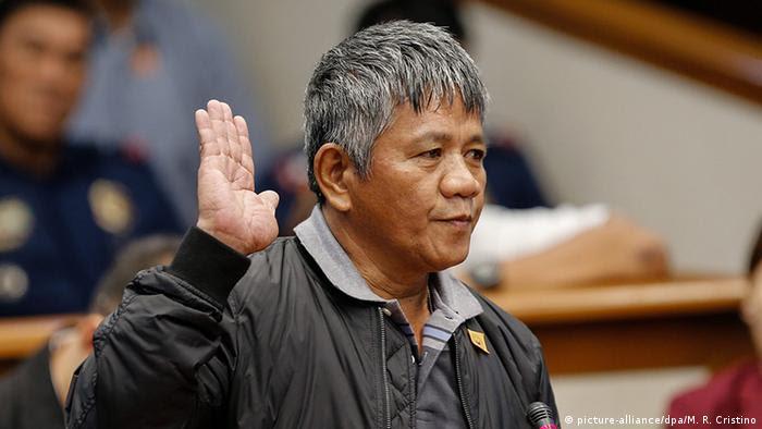 Philippinen Manila Aussage Edgar Matobato (picture-alliance/dpa/M. R. Cristino)