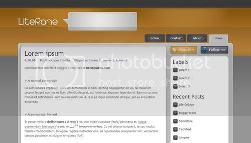 Blogger Abstract Yellow Template
