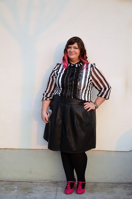 Camicia in riga e 2 blogger: ootd curvy Gloockler by Bon Prix