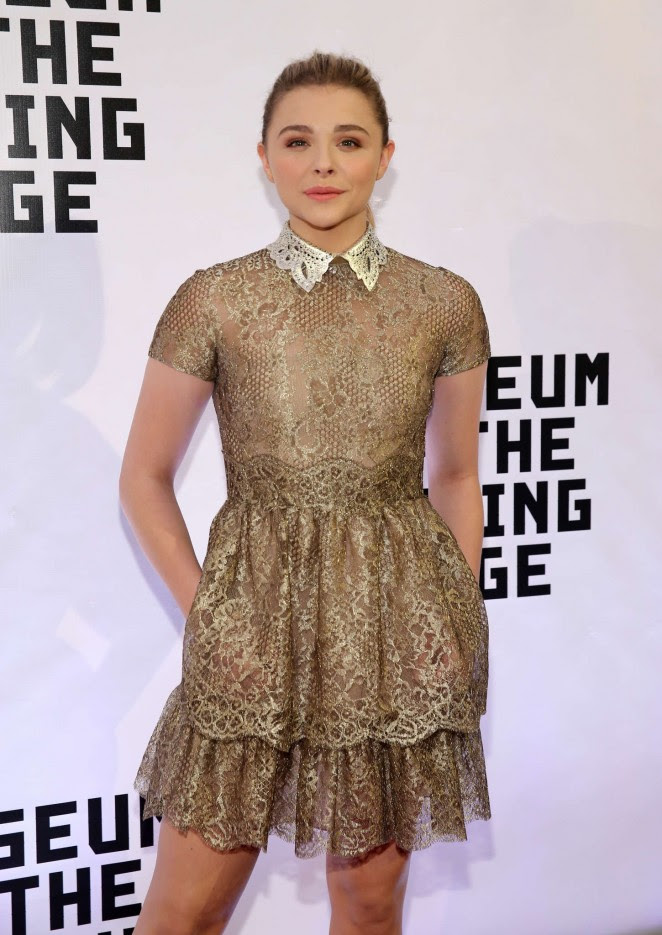Chloe Moretz: Museum of The Moving Image honors Julianne Moore -08
