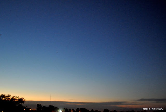 Conjunción entre Venus y Júpiter