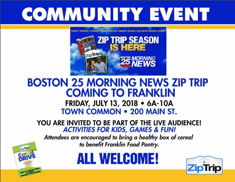 Franklin Food Pantry: BYOC to the Town Common Friday - July 13