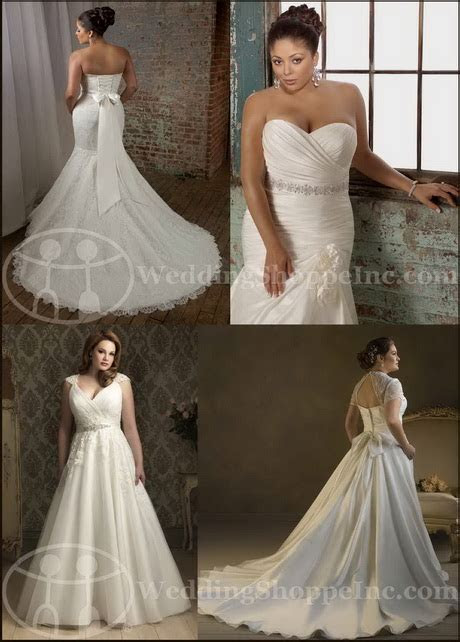 Full figured wedding gowns