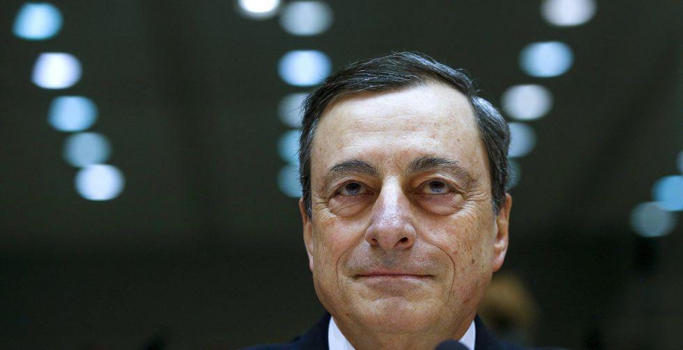 Mario Draghi (BCE), en el Parlamento Europeo.