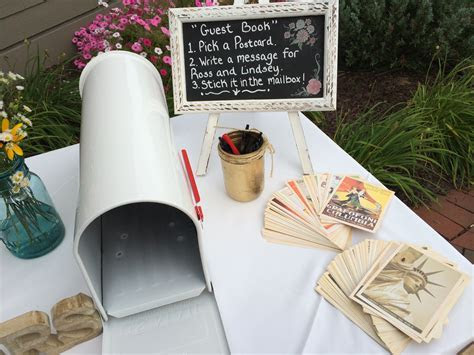 Postcard Wedding Guest Book Idea   Guestbook   Albany