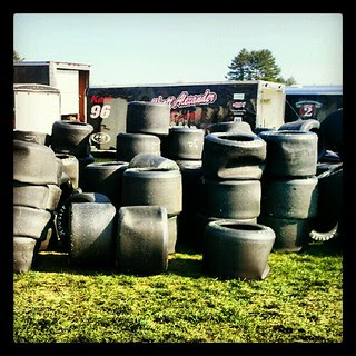 Got tire? #racing #racetrack #racetire #hoosier #nhms #newhampshire @nhms