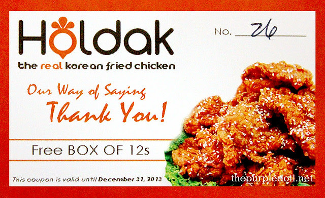 Holdak Chicken Gift Card Box of 12
