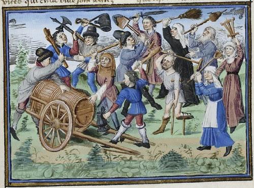 15th century illuminated manuscript miniature: Henri de Ferrières, Les Livres du roy Modus et de la royne Ratio 334