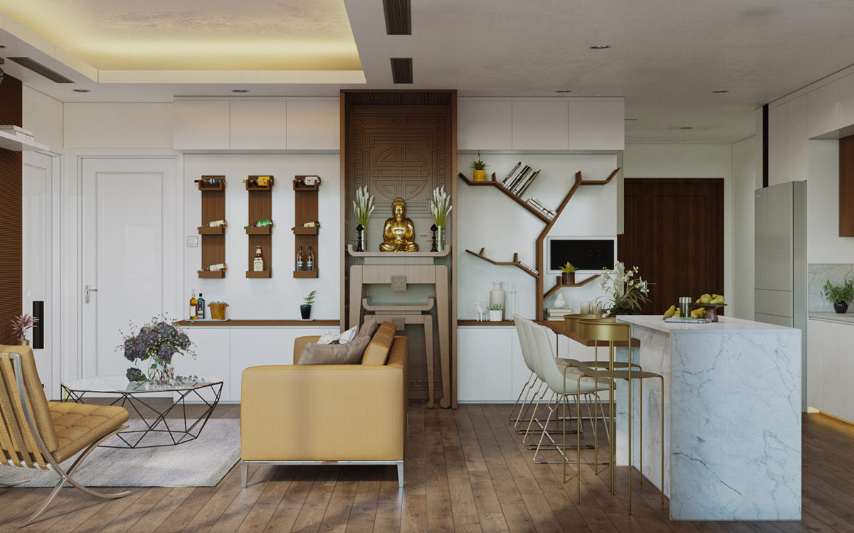Modern Interiors Flavoured With Chic Asian Decor