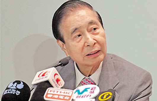 Lee Shau Kee, one of the 'Top 10 richest people in China in 2017' by China.org.cn