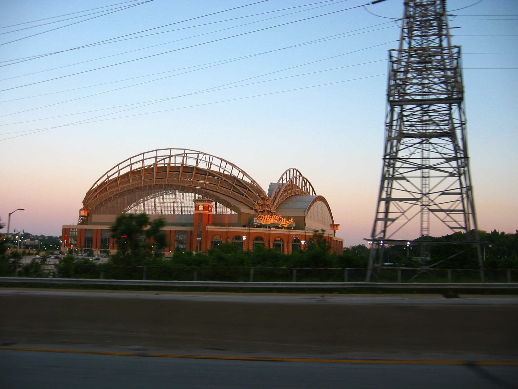 Miller Park in sunset June 2007 - soul-amp.com