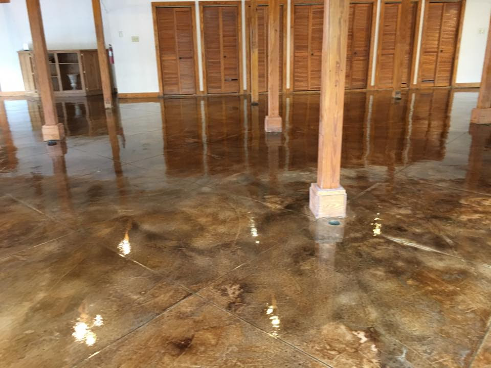 Stained Concrete Floor Beaumont Texas