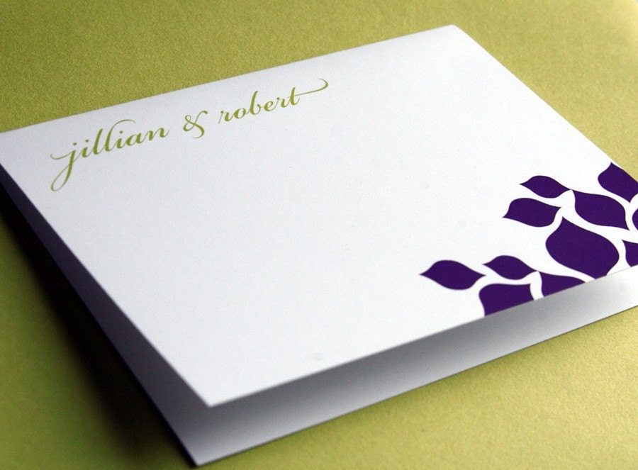 Floral Folded Thank You Note
