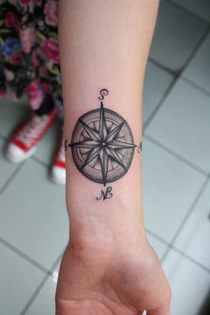 30 Great Compass Tattoos For Both Men And Women
