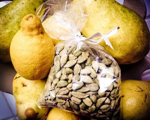 pears, lemons and Cardamom