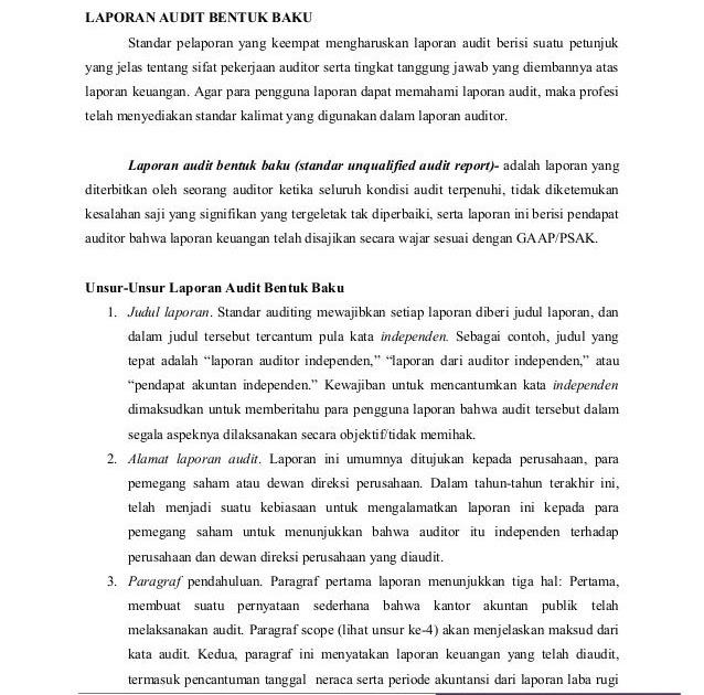 Contoh Laporan Internal Audit Contoh 0108