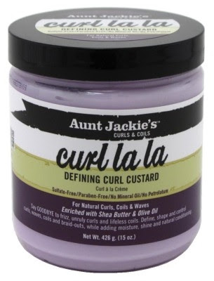 Aunt Jackie's Curls and Coils Curl La La Defining Curl Custard 15oz. 426g- sidi beauty