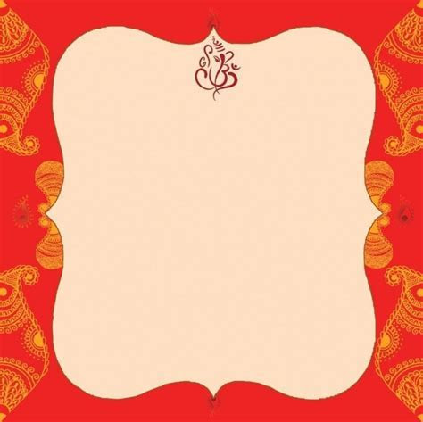 Blank Indian Wedding Invitation Templates