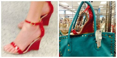 Red Patent Wedge Sandals at Ross Dress for Less