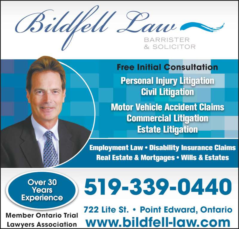 Bildfell Law  Opening Hours  722 Lite St, Point Edward, ON