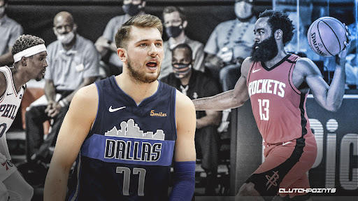 Avatar of Rockets Twitter account trolls Luka Doncic with cheeky caption on James Harden highlight