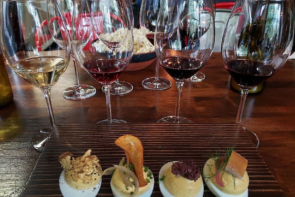 Every detail has been attended to at a Southeast Wine Collective tasting
