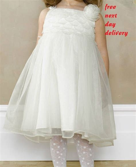 monsoon baby faith toddler dress ivory white party