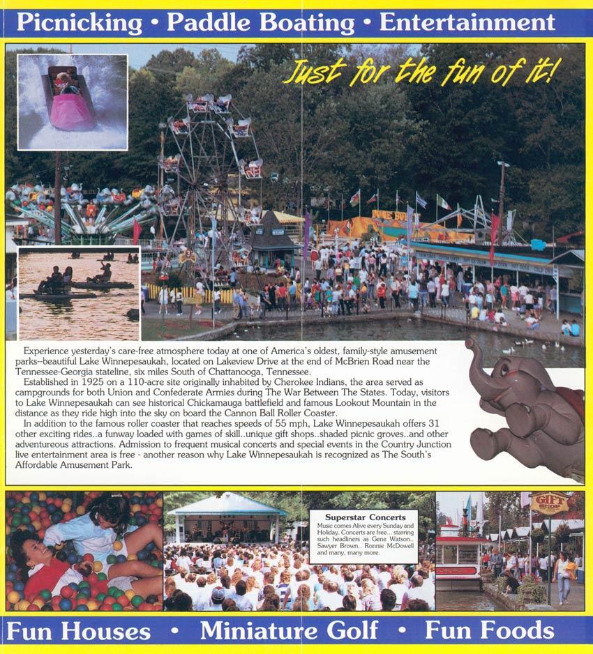 Theme Park Brochures Lake Winnepesaukah Theme Park Brochures